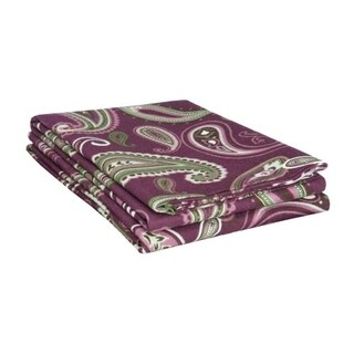 Kotter Home Paisley Flannel Pillowcase Set