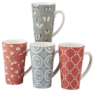Certified International Country Weekend 18-ounce Latte Mugs (Set of 4)