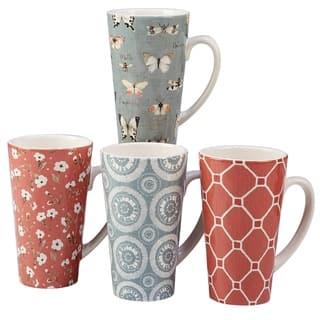 Certified International Country Weekend 18-ounce Latte Mugs (Set of 4)
