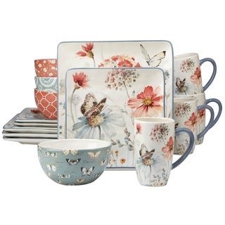 Certified International Country Weekend 16-piece Dinnerware Set  sc 1 st  Overstock.ca : overstock dinnerware sets - Pezcame.Com