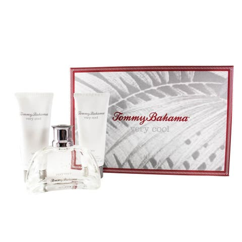 Tommy Bahama Very Cool 3 Pc. Gift Set ( Eau De Cologne Spray 3.4 Oz + Aftershave Balm 3.4 Oz + Shower Gel 3.4 Oz ) - N/A