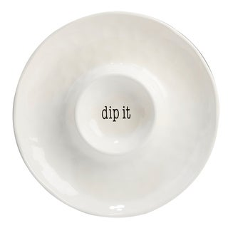 Certified International It's Just Words 13.75-inch Chip and Dip