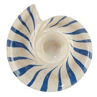 Certified International Seaside 3-d Shell Chip and Dip