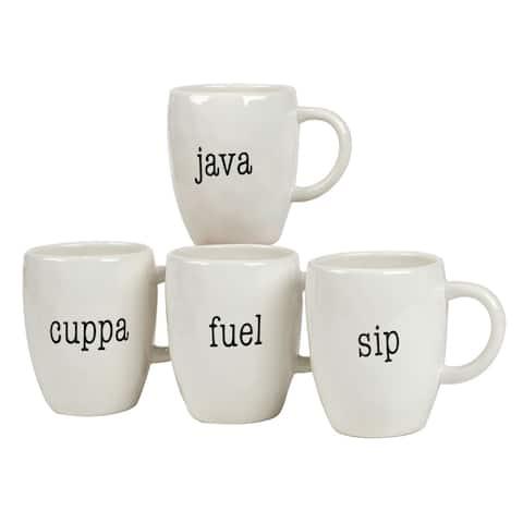 Certified International It's Just Words 20-ounce Mugs (Set of 4)