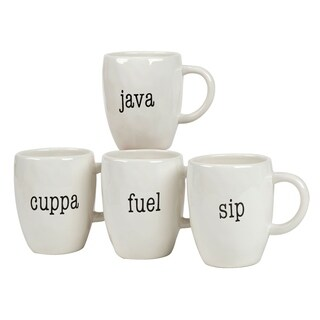 Certified International It's Just Words 20-ounce Mugs (Set of 4)
