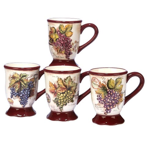 Certified International Vintners Journal 18-ounce Mugs (Set of 4)