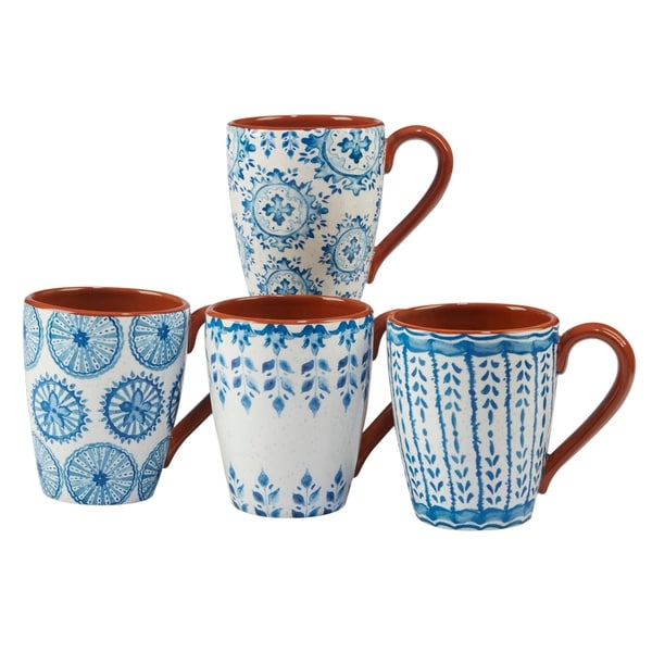 Certified International Porto 22-ounce Mugs (Set of 4). Opens flyout.