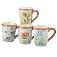 Certified International Herb Blossoms 18-ounce Mugs (Set of 4)