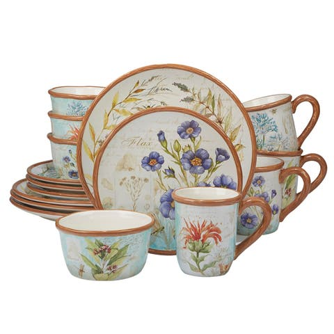 Certified International Herb Blossoms 16-piece Dinnerware Set