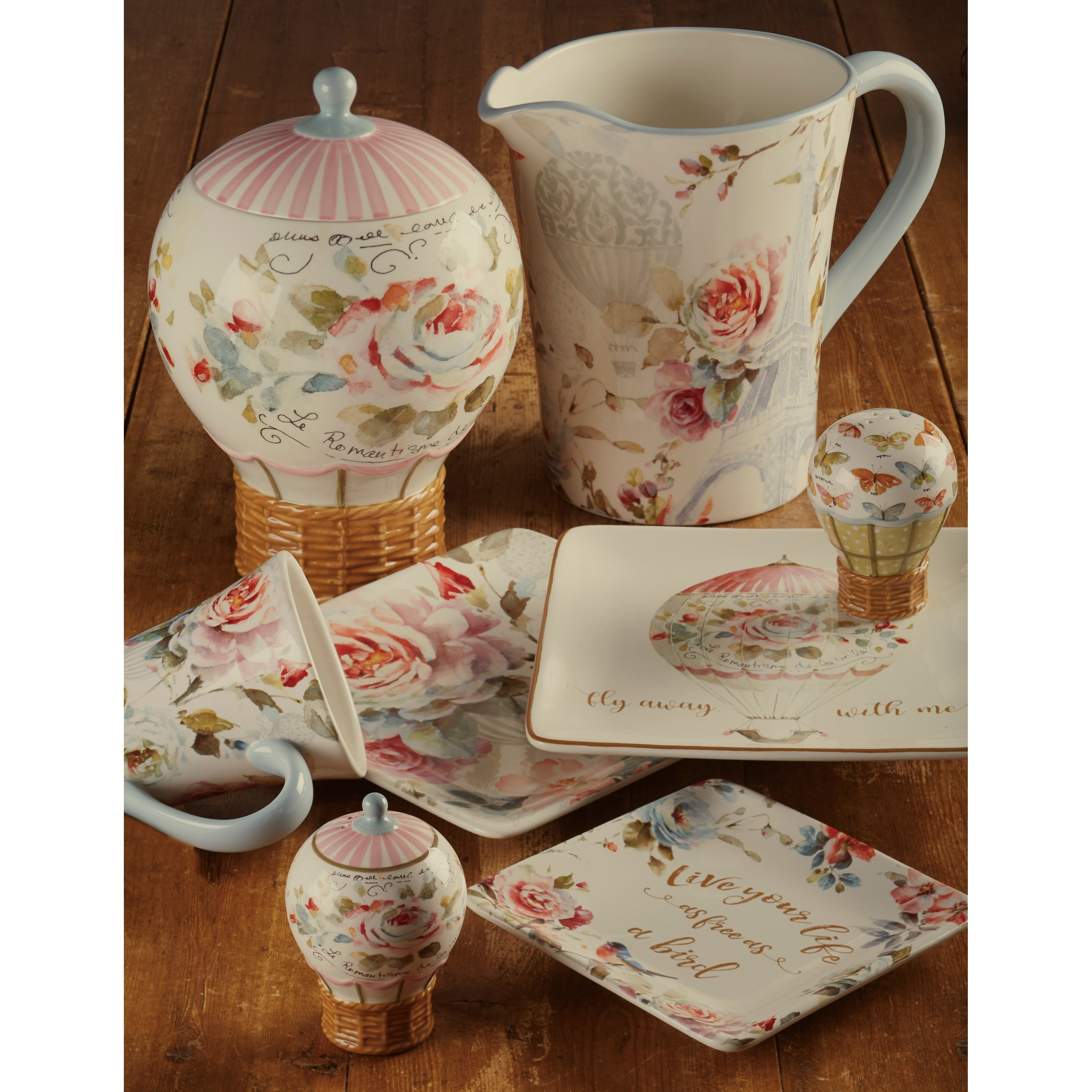 62db42158fc Shop Certified International Beautiful Romance 14-ounce Mugs (Set of 4) -  Free Shipping On Orders Over $45 - Overstock - 19985333