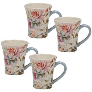Certified International Beautiful Romance 14-ounce Mugs (Set of 4)