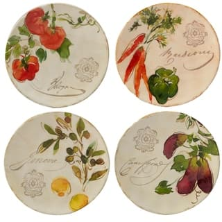 Certified International Piazzette Canape Plates (Set of 4)