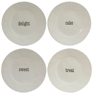 Certified International It's Just Words Dessert Plates (Set of 4)