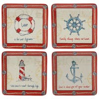 Certified International Coastal Life Dessert Plates (Set of 4)