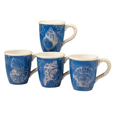 Certified International Seaside 16-ounce Mugs (Set of 4)
