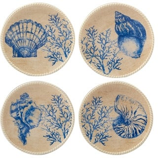 Certified International Seaside Canape Plates (Set of 4)  sc 1 st  Overstock.com & Coastal Microwave Safe Dinnerware For Less | Overstock