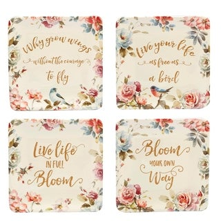 Certified International Beautiful Romance Canape Plates (Set of 4)