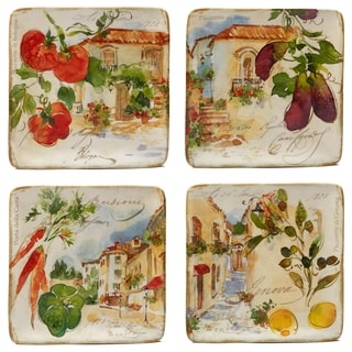 Certified International Piazzette Salad Plates (Set of 4)