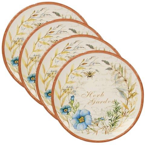 Certified International Herb Blossoms Dinner Plates (Set of 4)