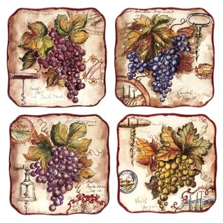 Certified International Vintners Journal Dessert Plates (Set of 4)