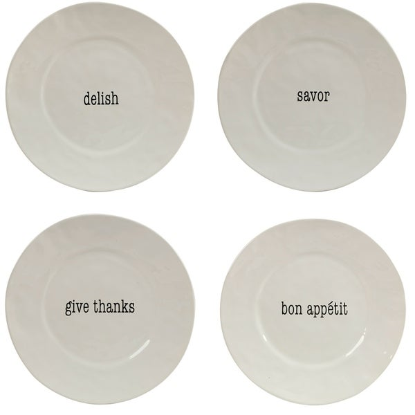 Certified International It\u0026#x27;s Just Words Dinner Plates ...  sc 1 st  Overstock & Certified International It\u0027s Just Words Dinner Plates (Set of 4 ...