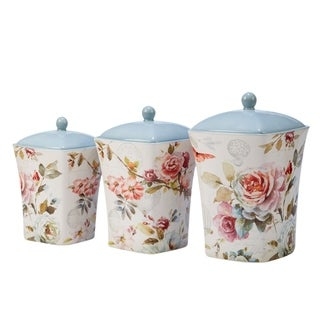 Certified International Beautiful Romance 3-piece Canister Set