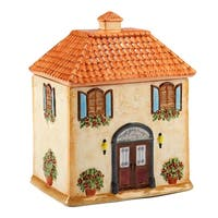 Certified International Piazzette 3-d Villa House Cookie Jar