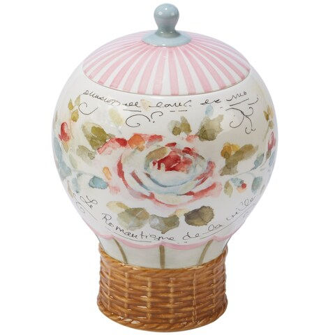 Certified International Beautiful Romance 3-d Balloon Cookie Jar