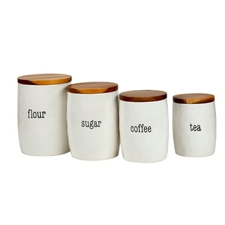 Certified International It's Just Words 4-piece Canister Set with Lids