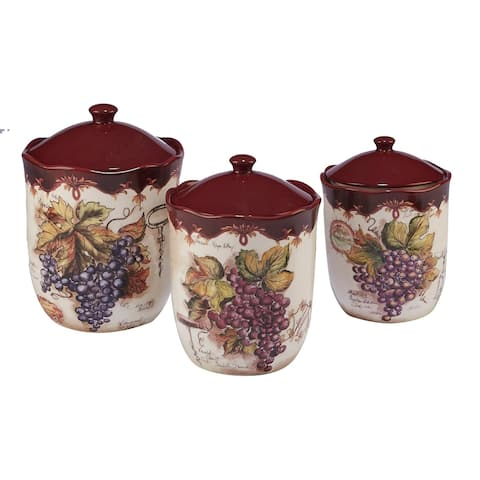 Certified International Vintners Journal 3-piece Canister Set