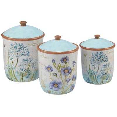 Buy Blue Kitchen Canisters Online at Overstock   Our Best ...