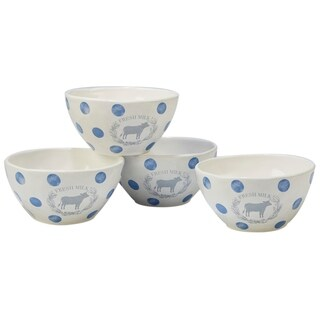 Certified International Urban Farmhouse Ice Cream Bowls (Set of 4)