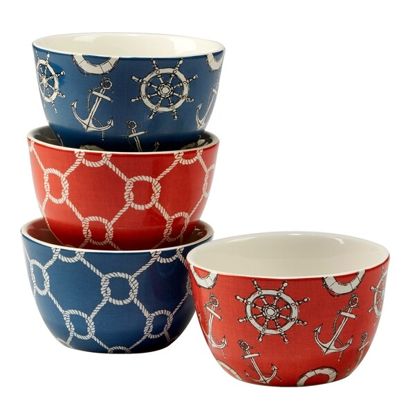 Certified International Coastal Life Ice Cream Bowls (Set of 4)