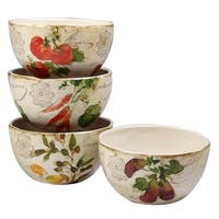 Certified International Piazzette Ice Cream Bowls (Set of 4)