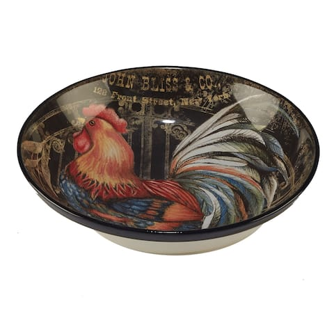 Certified International Gilded Rooster Serving/Pasta Bowl