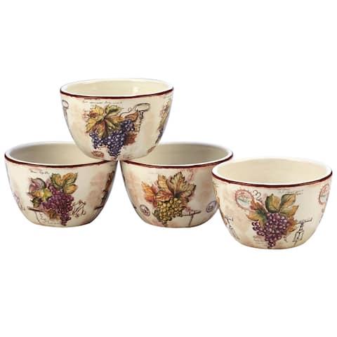 Certified International Vintners Journal Tidbit Bowls (Set of 4)