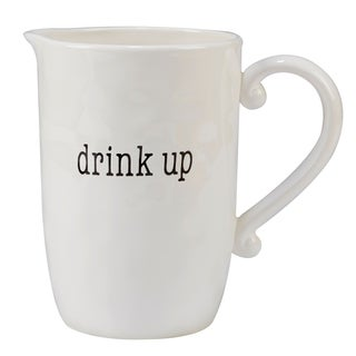 Certified International It's Just Words 96-ounce Pitcher