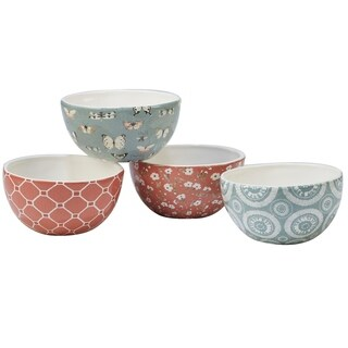 Certified International Country Weekend Ice Cream Bowls (Set of 4)