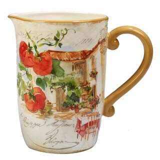 Certified International Piazzette 104-ounce Pitcher