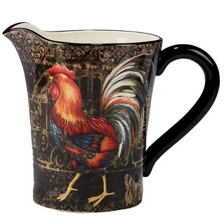 Certified International Gilded Rooster 112-ounce Pitcher