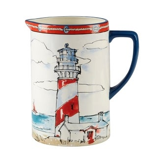 Certified International Coastal Life 2.5-quart Pitcher