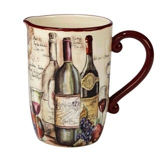 Certified International Vintners Journal 3-quart Pitcher
