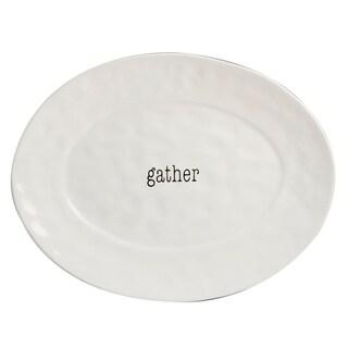 Certified International It's Just Words Oval Platter