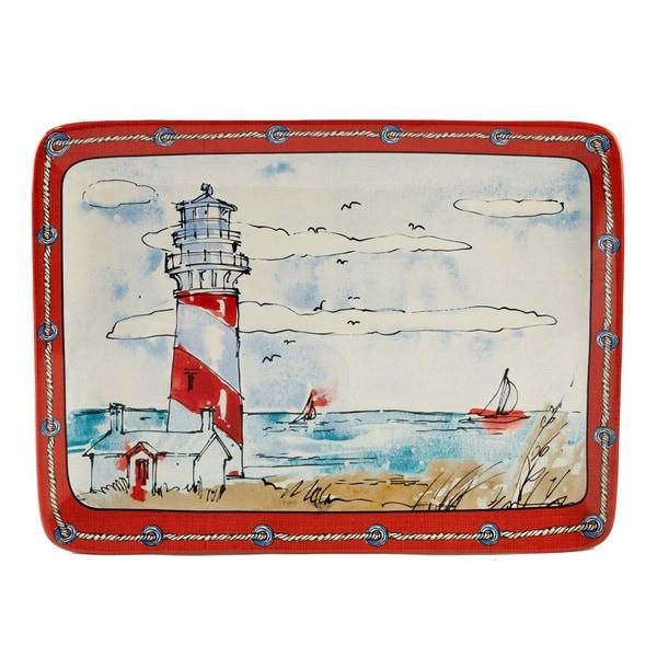Certified International Coastal Life Rectangular Platter