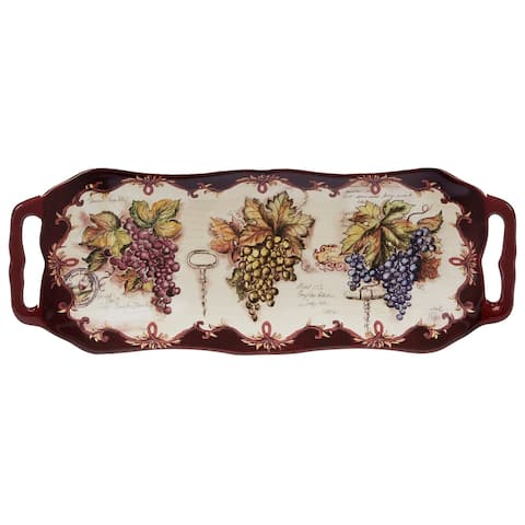 Certified International Vintners Journal Platter with Handles