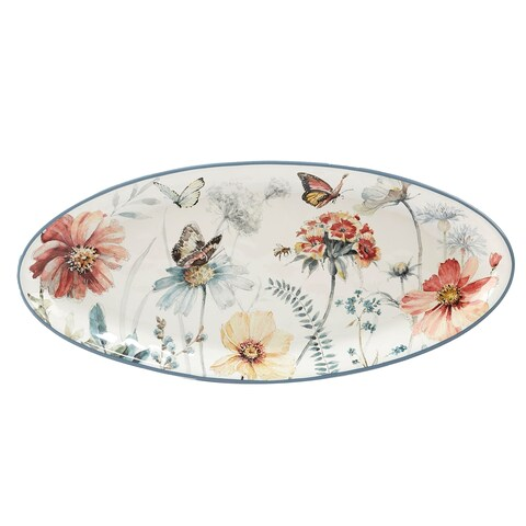 Certified International Country Weekend Oval Platter