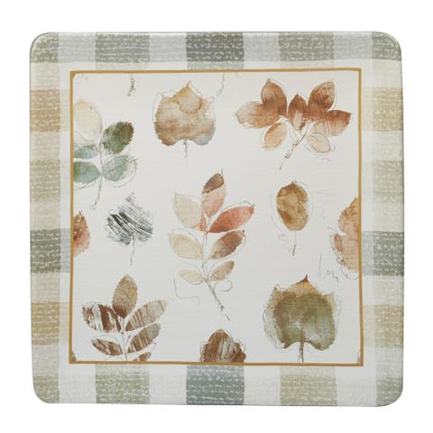 Certified International A Woodland Walk Square Platter