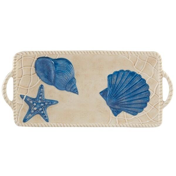 Certified International Seaside Rectangular Tray with Handles
