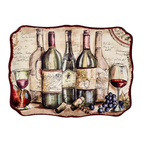 Certified International Vintners Journal Rectangular Platter