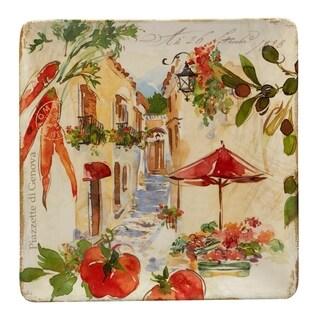 Certified International Piazzette Square Platter